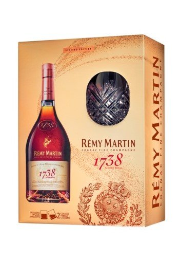 Rémy Martin 1738 Accord Royal Special Cuvée 0,7l 40% + 2x sklo GB