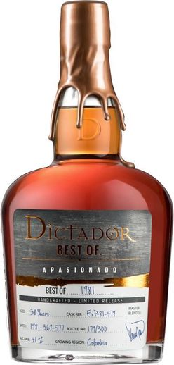 Dictador The Best of 36y 1981 0,7l 41% L.E. / Rok lahvování 2019