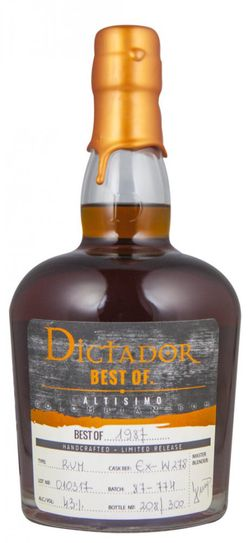 Dictador The Best of 31y 1987 0,7l 41% L.E. / Rok lahvování 2018