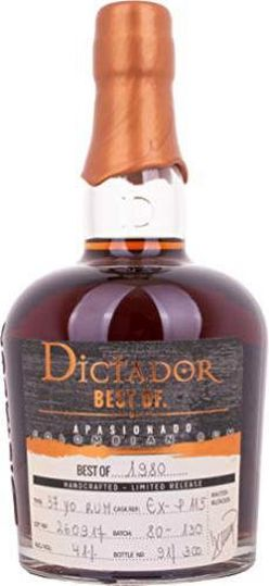 Dictador The Best of 39y 1980 0,7l 41% L.E. / Rok lahvování 2019